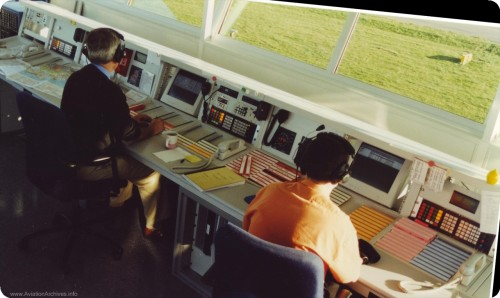 Air Traffic Control showing Ian James on the left in ATCO position